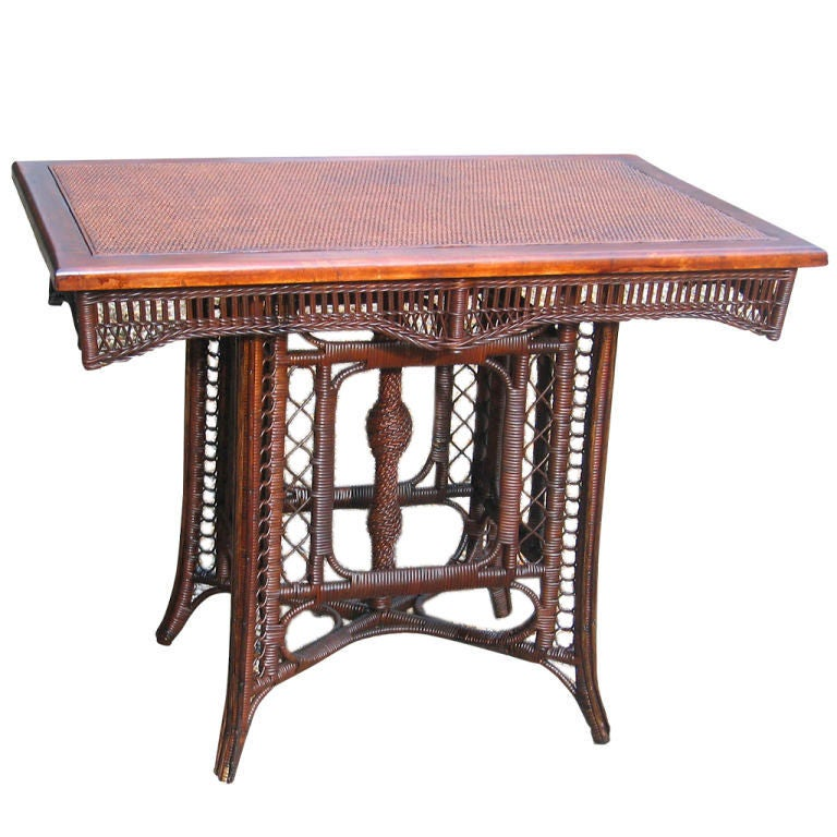 Victorian Ash Coffee Table: Early Victorian Wicker Table At 1stdibs