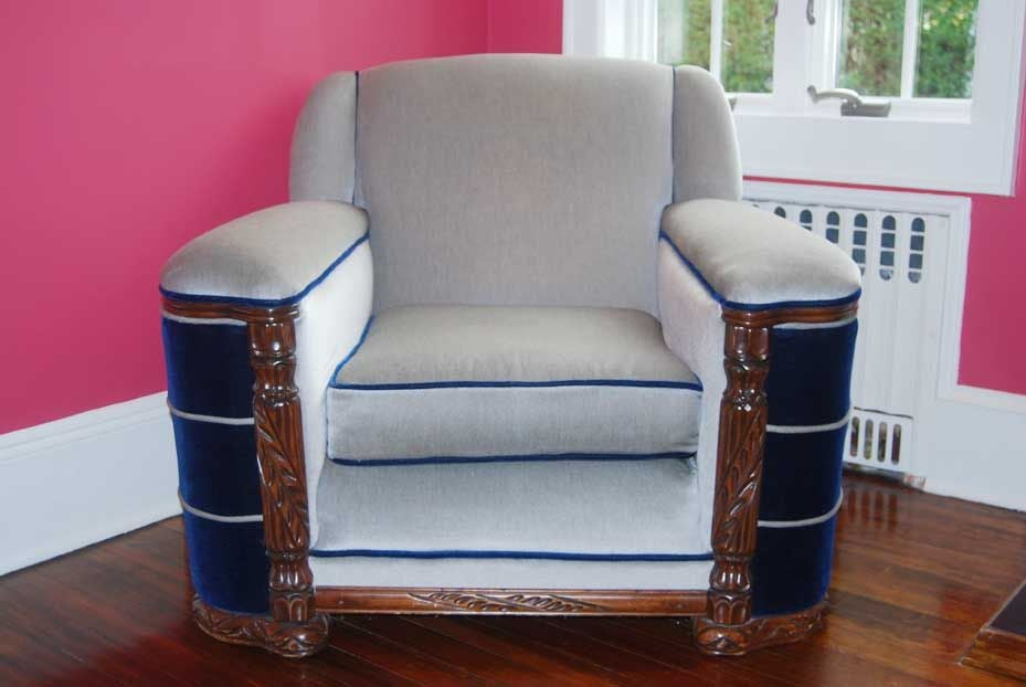 1940 S Art Deco Sofa And Club Chair At 1stdibs