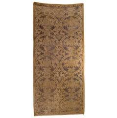 17th C. European Velvet Textile Hanging