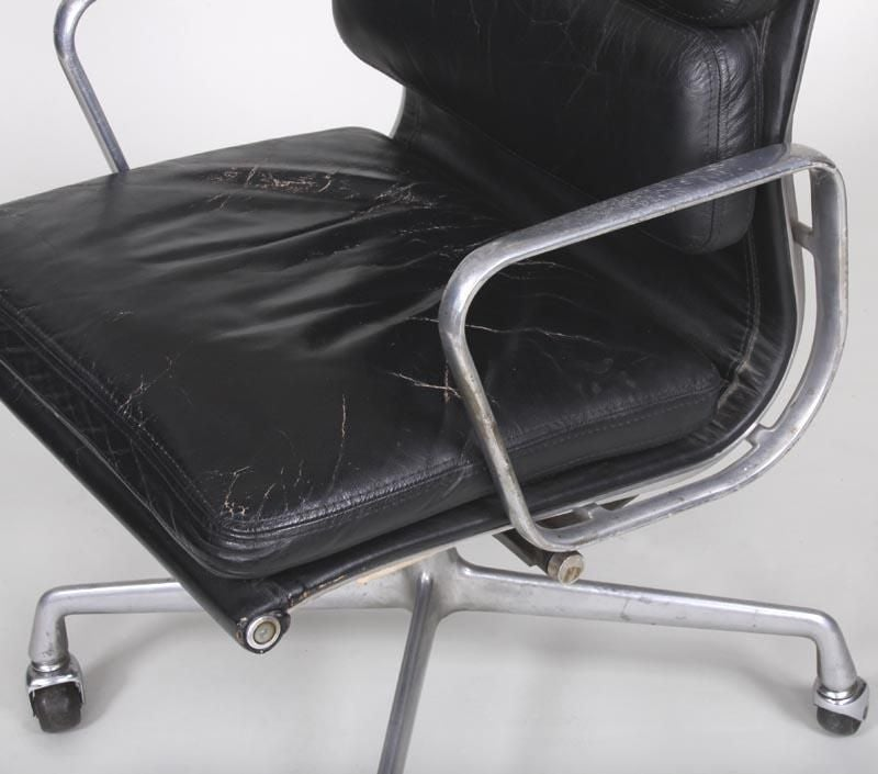 leather desk chair by eames for herman miller at 1stdibs