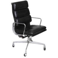 Leather Desk Chair By Eames for Herman Miller