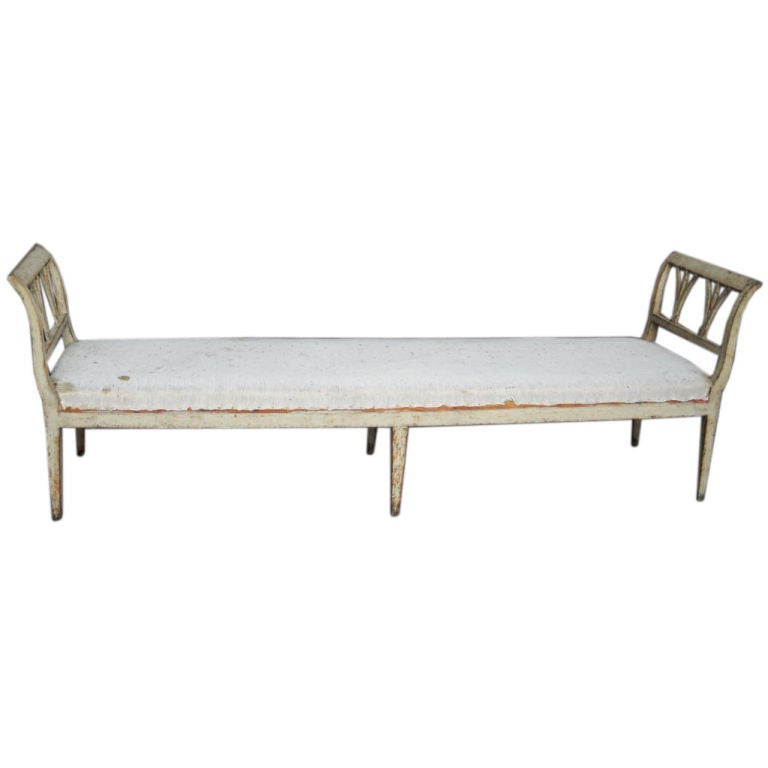 Long Swedish Window Bench At 1stdibs