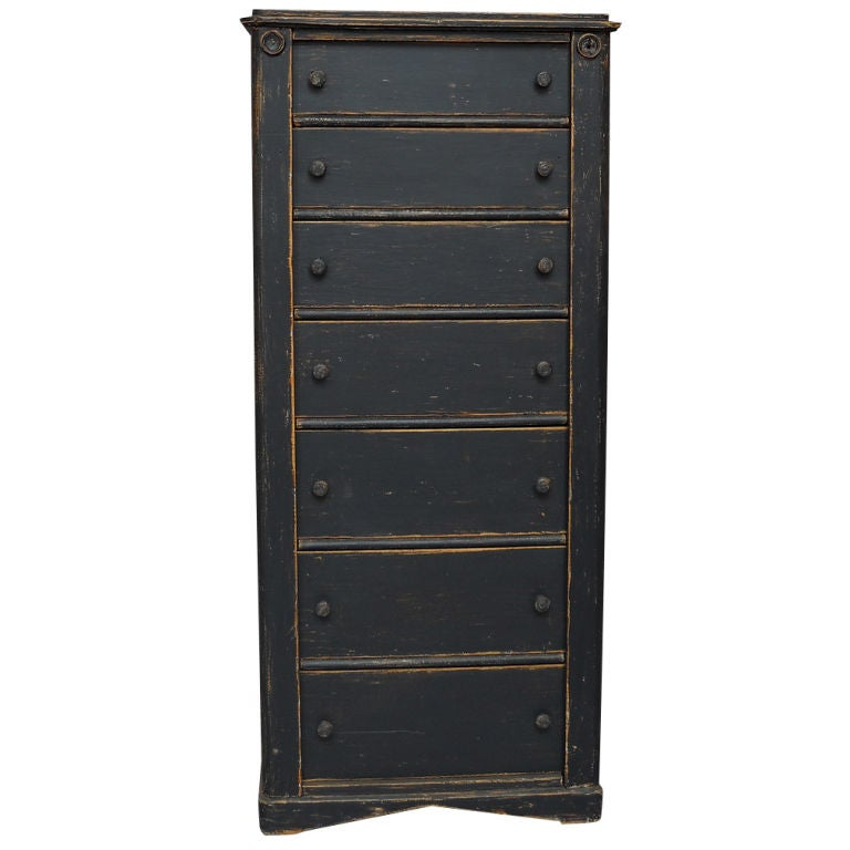 Tall Black Chest Of Drawers At 1stdibs