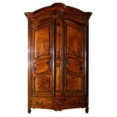 A Fine Louis XV Walnut Armoire