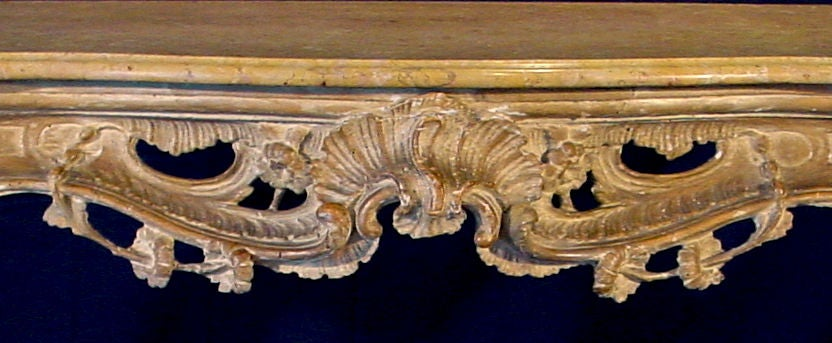 An Italian Rococo Cream Painted Console In Good Condition For Sale In Sheffield, MA