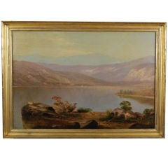 """""""A Landscape view with a Boat"""" Hudson River School"""