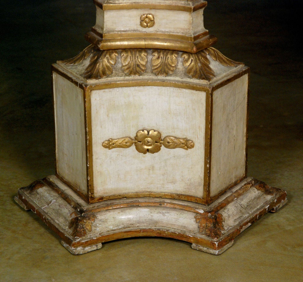 Each pedestal decorated throughout