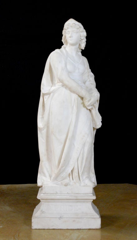 "Carrara Marble ""A Classical Figure of a Woman"" by  Joseph Durham For Sale"