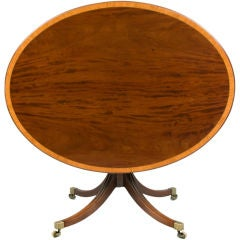 English Georgian Oval Center Table