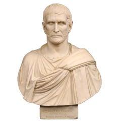 Italian Plaster Bust of Brutus