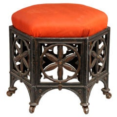 Gothic Revival Cast Iron Stool