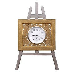 English Gilded Easel Clock