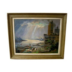 Nice oil on canvas by noted Florida artist Ronni Pastorini