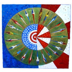 "Vibrant Abstract by George Obando, ""Unity and the Americas"""
