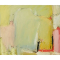 Abstract oil on canvas by the noted artist Victor Mirabelli