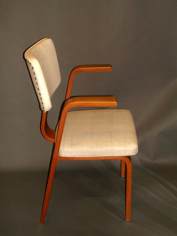 Set Of Four Mid Century Bentwood Thonet Chairs For Sale At