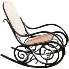 Oversized 19thc Bentwood  Rocking Chair by J.J Kohn/Thonet