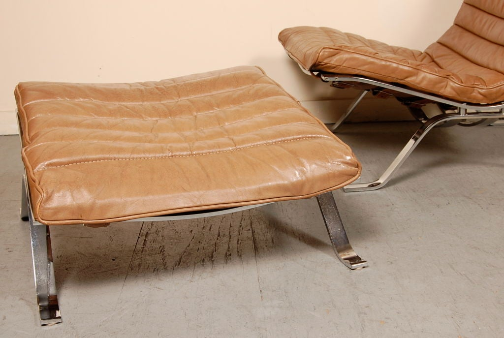 Arne Norell Ari Lounge Chair And Ottoman At 1stdibs