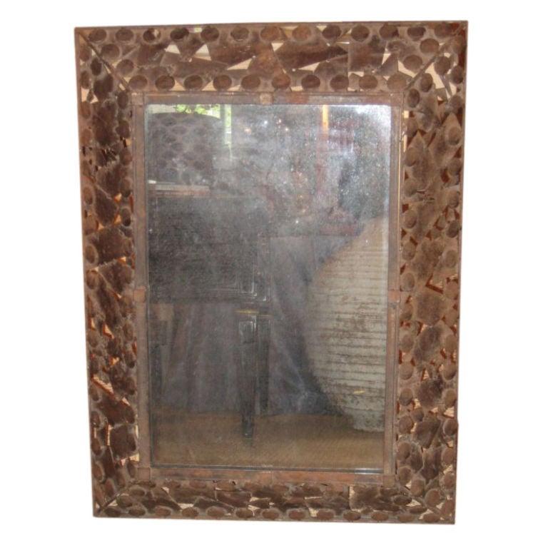 Unusual iron framed mirror at 1stdibs - Unusual large wall mirrors ...