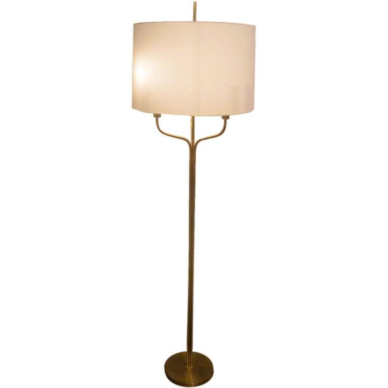 brass floor lamp. Black Bedroom Furniture Sets. Home Design Ideas