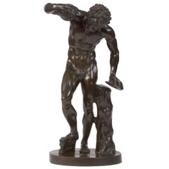 Italian Bronze Figure of the Dancing Faun, After the Antique