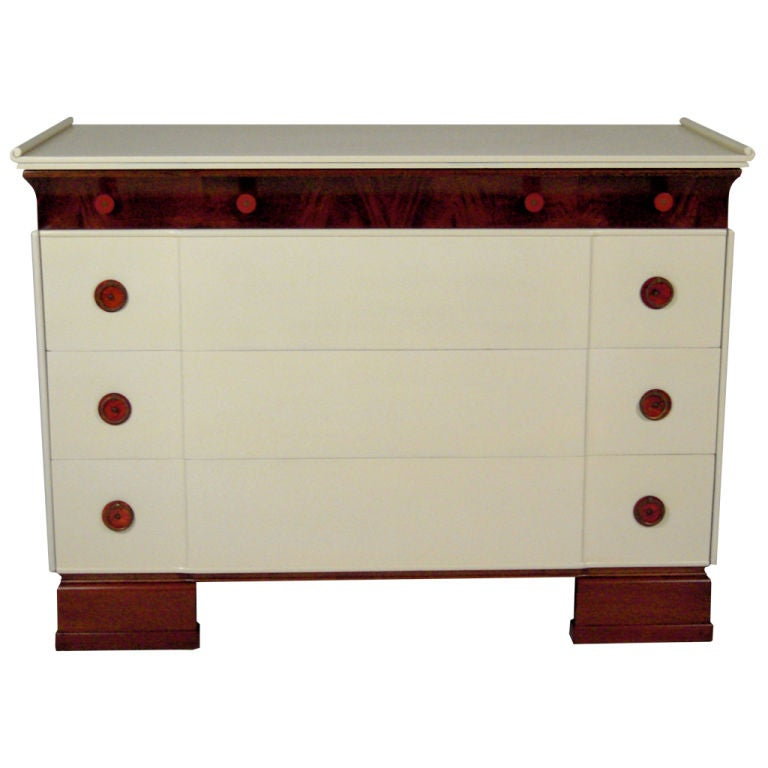 1930s CHINOISERIE CHEST OF DRAWERS For Sale