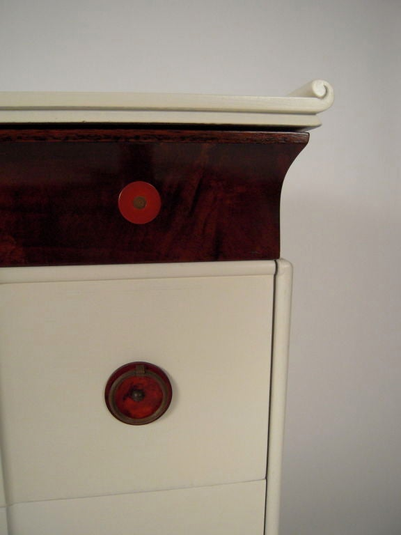 American 1930s CHINOISERIE CHEST OF DRAWERS For Sale