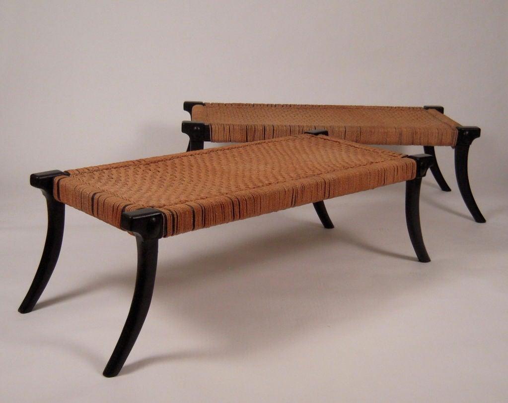 klismos leg bench ~ klismos benches in the manner of robsjohngibbings at 1stdibs