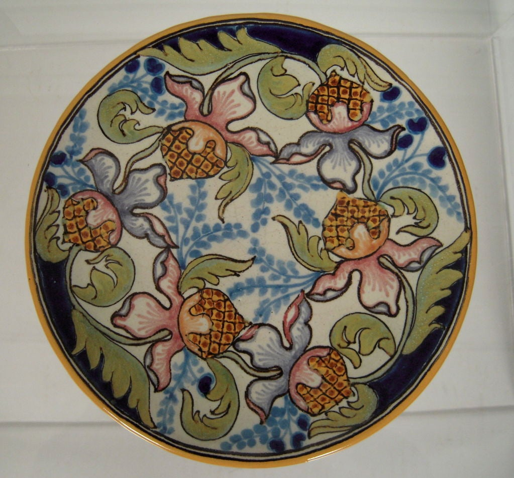 Vintage Mexican Talavera Pottery Plate And Platter At