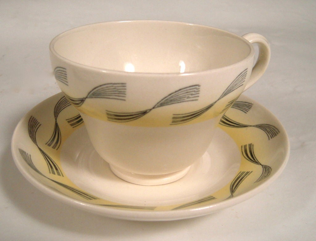 RARE ERIC RAVILIOUS FOR WEDGWOOD GARDEN SERIES SERVICE FOR 6 For Sale 1