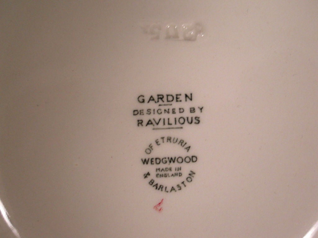 RARE ERIC RAVILIOUS FOR WEDGWOOD GARDEN SERIES SERVICE FOR 6 For Sale 2
