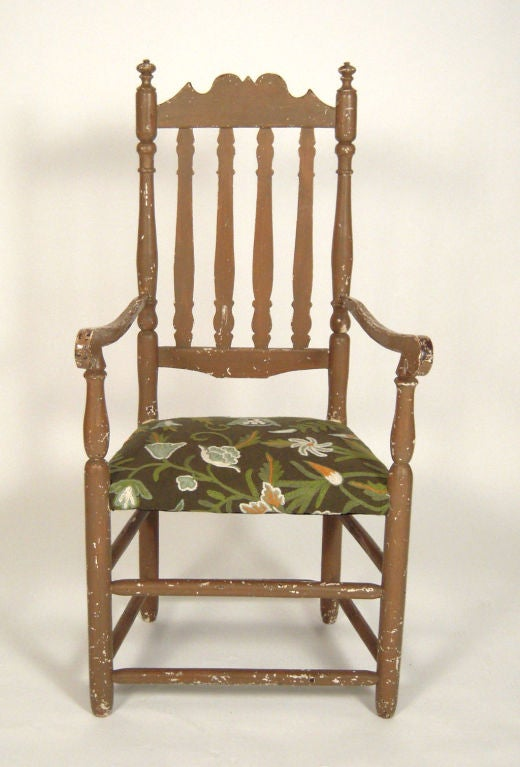 Early American Bannister Back Arm Chair At 1stdibs