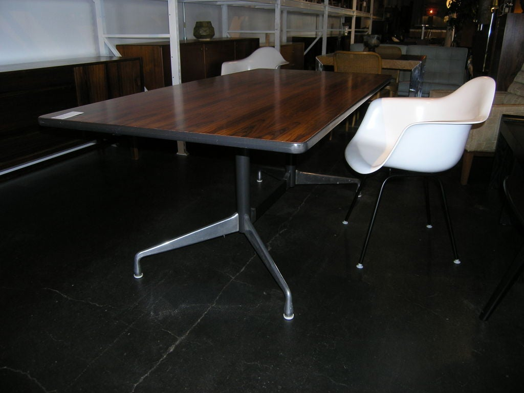Rare rosewood table by charles eames for herman miller at - Eames table herman miller ...
