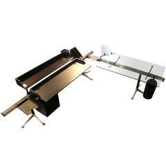 "Burdick Group Executive ""L"" Shape desk by Herman Miller"