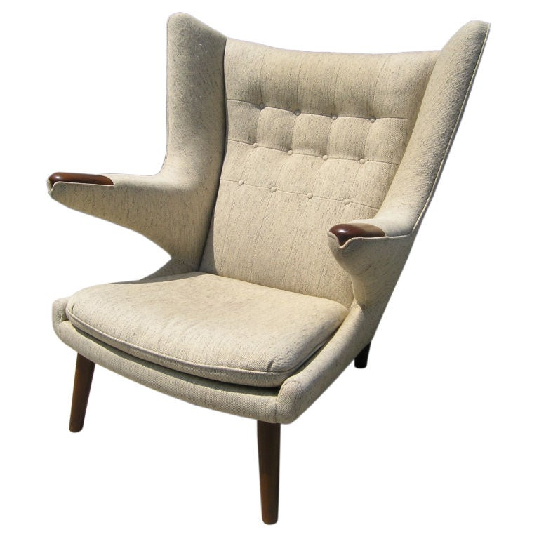 Original Papa Bear Chair by Hans Wegner at 1stdibs