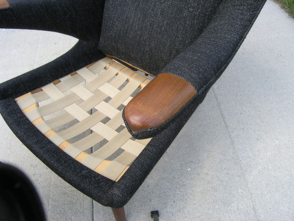 Danish All Original Papa Bear Chair and Ottoman by Hans Wegner