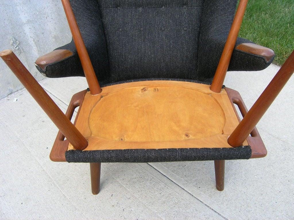 20th Century All Original Papa Bear Chair and Ottoman by Hans Wegner