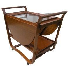 Drop-Leaf Tea Cart on Wheels by Edward Wormley for Dunbar