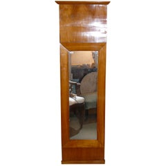 19th Century Fruitwood Biedermeier Pier Mirror