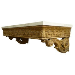 French Giltwood Wall Mount Console