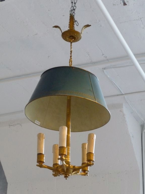 French Empire 5 light chandelier