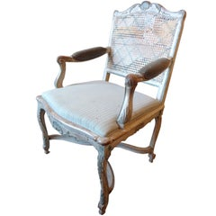 18th Century Painted Cane-Back Armchair