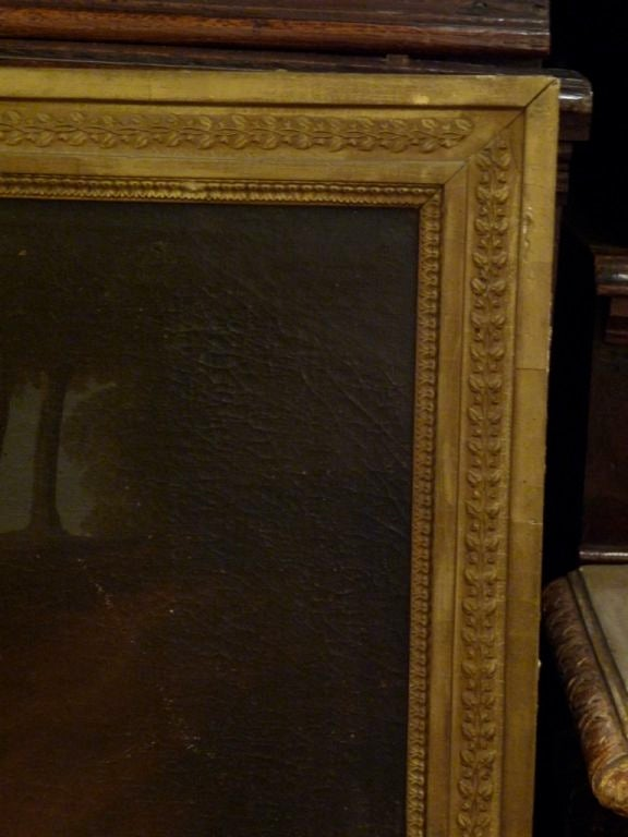 19th Century Trumeau Mirror with Oil Painting In Good Condition For Sale In Boston, MA