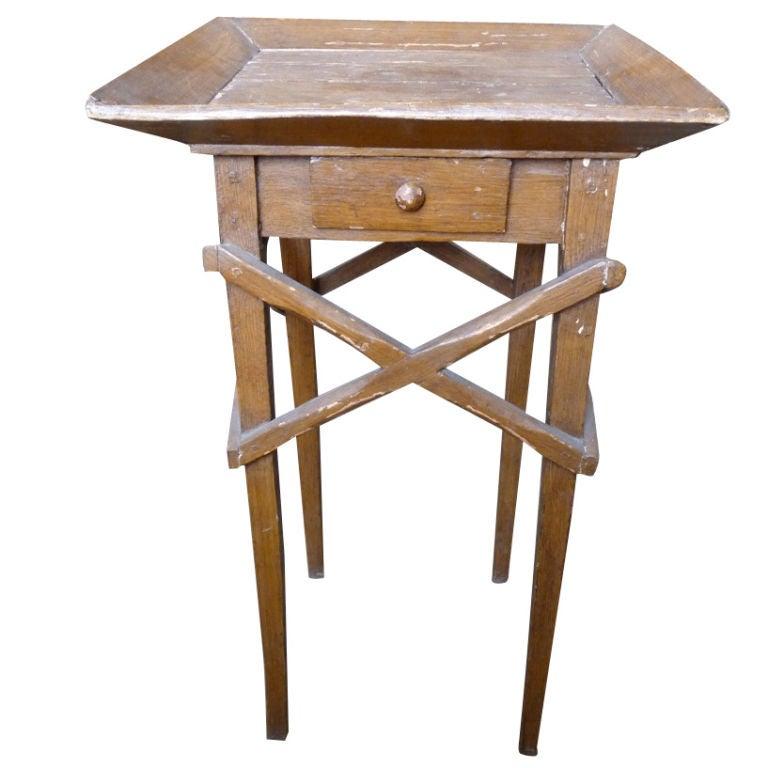 19th Century Faux Grain Primitive Work Table
