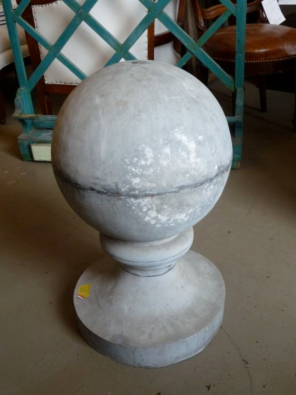19th century zinc roof finial or ornament.