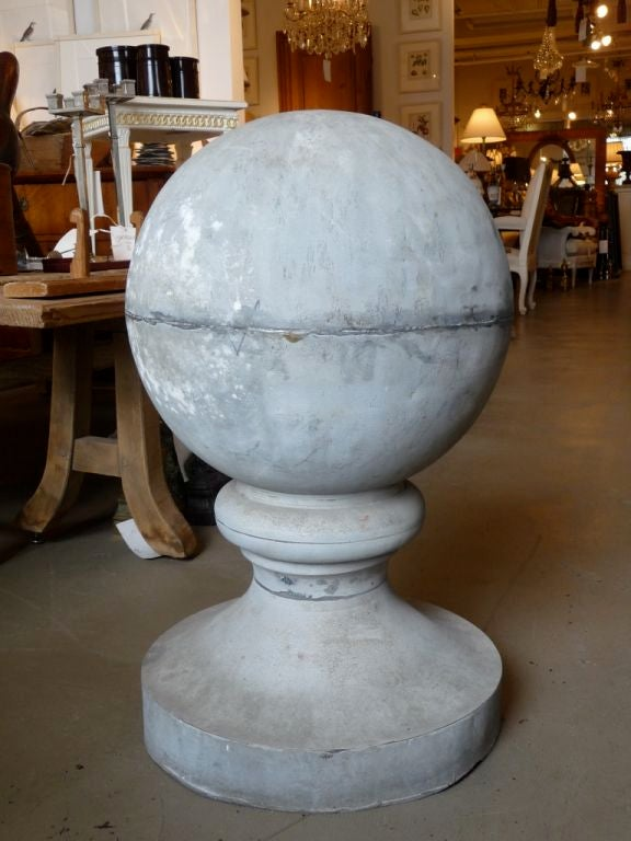 French 19th Century Zinc Roof Finial or Ornament For Sale