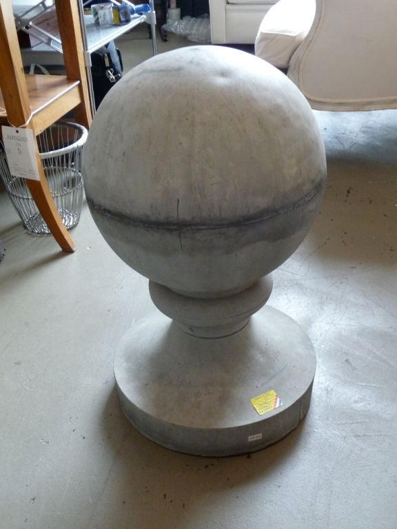 19th Century Zinc Roof Finial or Ornament In Excellent Condition For Sale In Boston, MA
