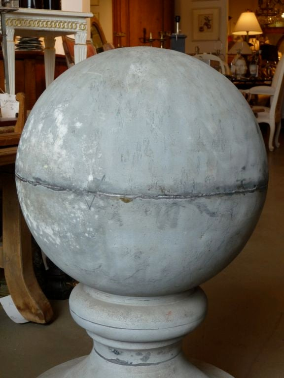 19th Century Zinc Roof Finial or Ornament For Sale 2