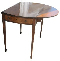 George III Mahogany and Rosewood Crossbanded Pembroke Table