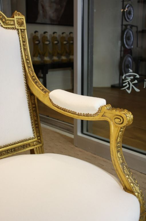 French Giltwood Canape For Sale 2